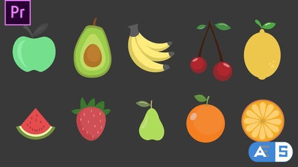 Videohive – Fruits Icons – 34271969