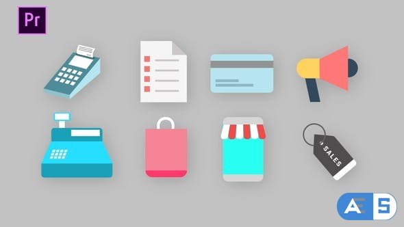 Videohive – Shopping Icons Pack – 34260204