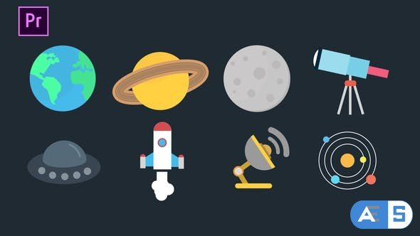 Videohive – Space Icons Pack – 34259616