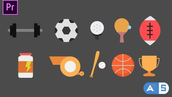 Videohive – Sport Animated Icons – 34272076