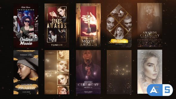 Videohive Awards/Gold Luxury Instagram Stories 31560460