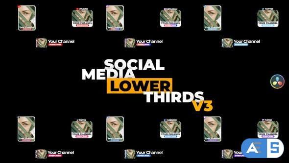 Videohive Social Media Lower Thirds v3 34326300