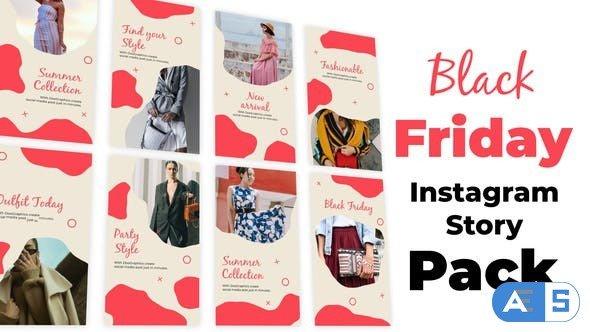 Videohive Black Friday Instagram Story Pack 34403685