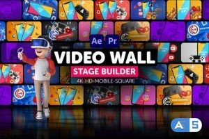 Videohive Video Wall Stage Builder 34153157