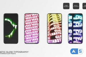 Videohive Kinetic Glow Typography Instagram 34257814