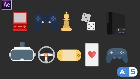 Videohive Gaming Icons 34094888