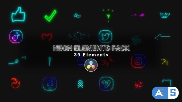 Videohive Neon Elements Pack 34319754