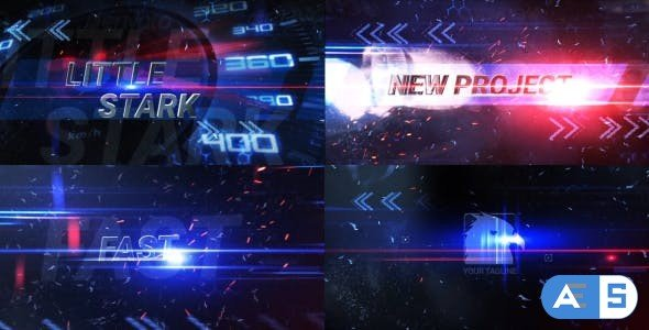 Videohive Fast Dynamic Light Trails Opener 17207102